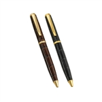 $40.00 Ballpoint Pen with Brown Crocodile Embossed Leather