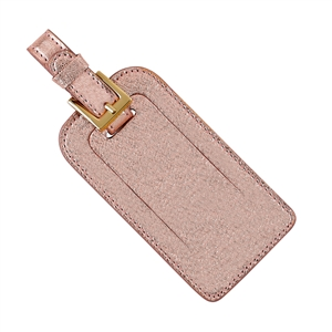$30.00 Luggage Tag - Rose Gold Metallic Goatskin
