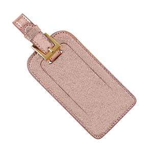 $30.00 Luggage Tag - Rose Gold Metallic Goatskin