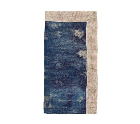 Kim Seybert Linens  Napkins Dip Dye Gauze Cobalt and Natural Napkin $37.00