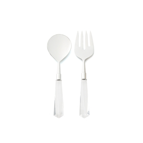 Kim Seybert Linens  Flatware Faceted Clear Salad Server Set $80.00