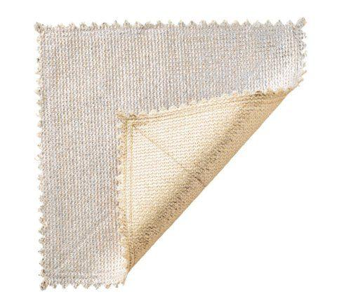 Kim Seybert Linens  Placemats Stamped Gold/Silver Reversible Placemat $28.00