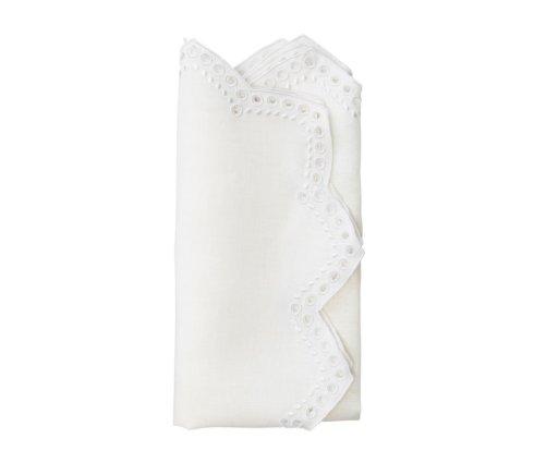 Kim Seybert Linens  Napkins Tapestry White Napkin $30.00