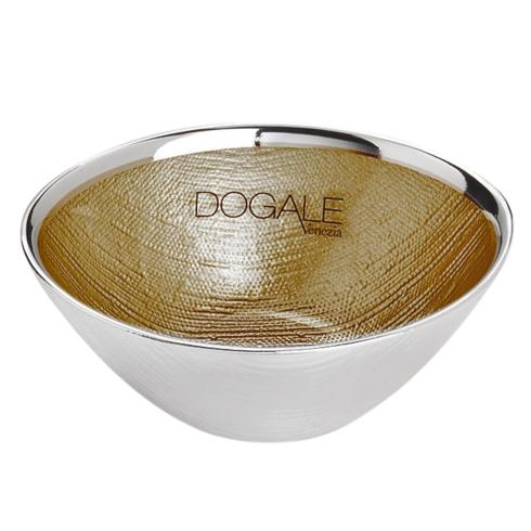 $40.00 Dogalini Oval Bowl - Gold