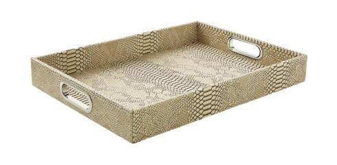 $120.00 Python Bone Rectangular Tray