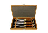 $140.00 Elm Handle Steak Knives, Set of 6