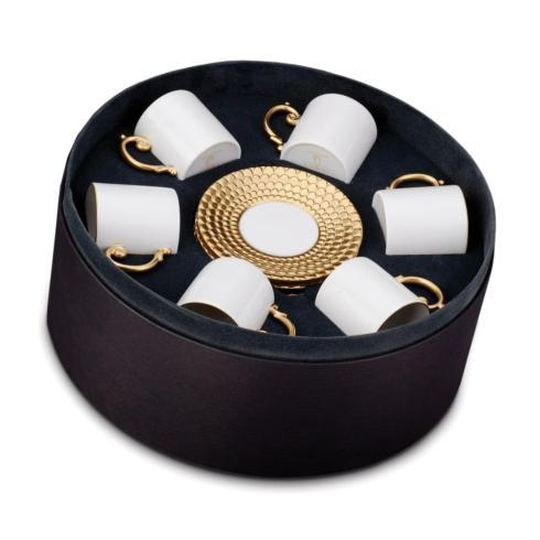 $986.00 Espresso Cup and Saucer, Set of 6