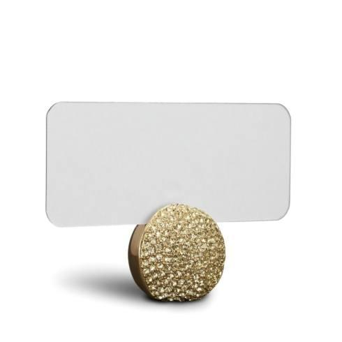 $375.00 Pave Sphere Gold Place Card Holder, Set of 6