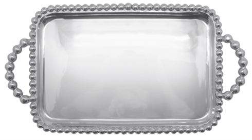 Mariposa  String of Pearls Pearled Medium Service Tray $98.00