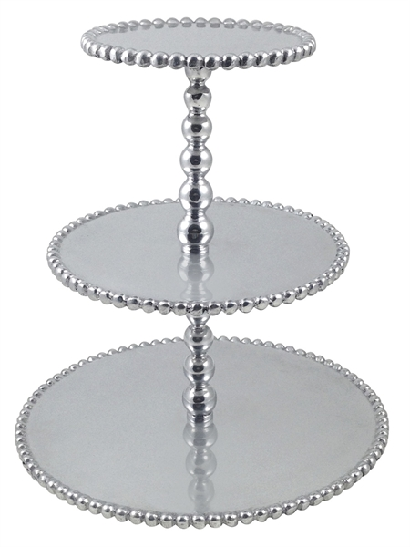 Mariposa  String of Pearls Pearled Three Tiered Cupcake Server $98.00
