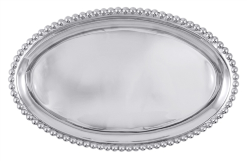 Mariposa  String of Pearls Pearled Large Oval Platter $98.00