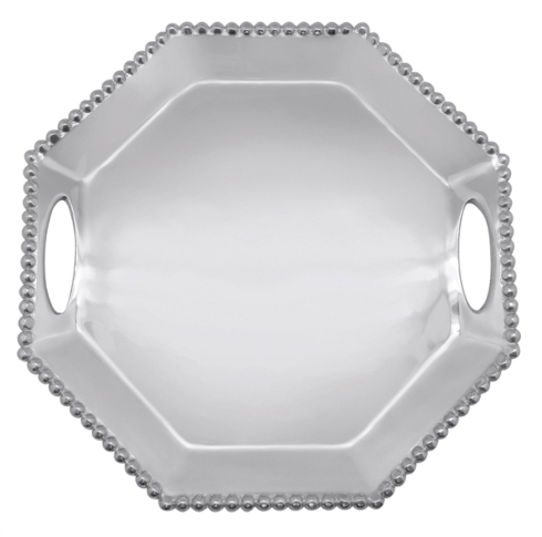 Mariposa  String of Pearls Pearled Octagonal Tray $139.00