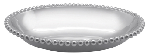 Mariposa  String of Pearls Pearled Oval Serving Bowl $116.00