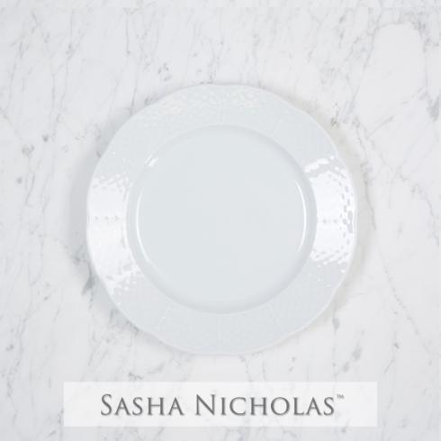 Sasha Nicholas  Weave Simply White Salad Plate $20.00
