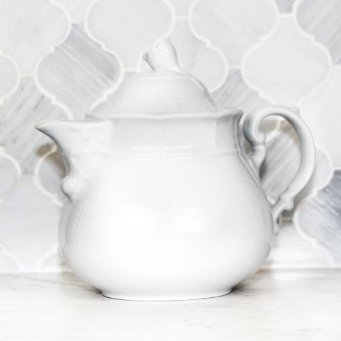 Sasha Nicholas  Weave Simply White Teapot $84.00