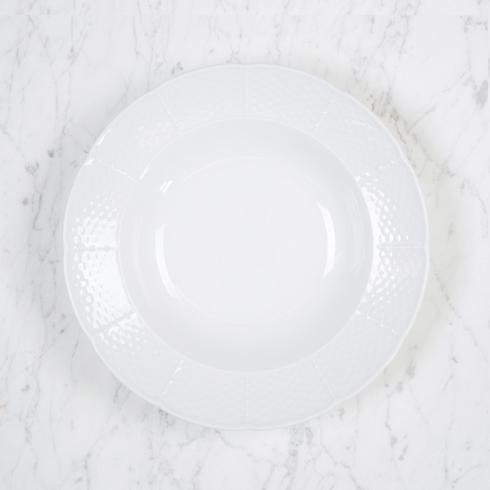 Sasha Nicholas  Weave Simply White Rim Soup Bowl $26.00