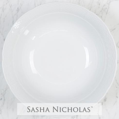 Sasha Nicholas  Weave Simply White Large Serving Bowl $66.00