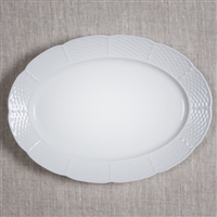 Sasha Nicholas  Weave Simply White Oval Platter $76.00