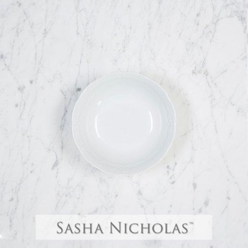 Sasha Nicholas  Weave Simply White Petite Bowl $16.00