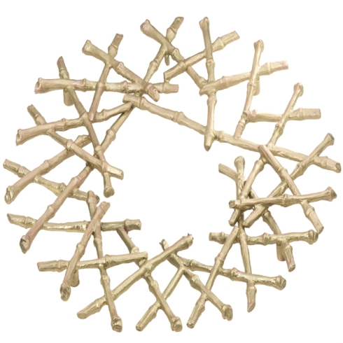 Michael Michaud Table Art   Gold Bamboo Trivet $64.00