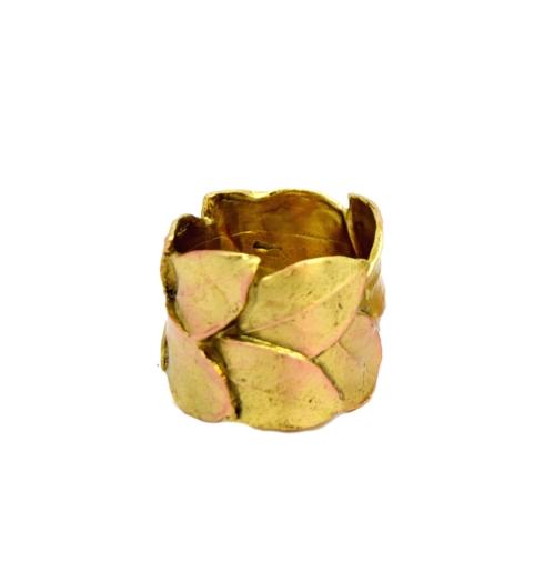 $71.00 Bay Leaf Napkin Rings, Set of 4