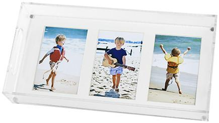 Tara Wilson Designs  Trays Vertical Three Photo Tray with White Mat $140.00