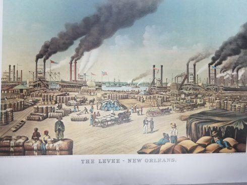 $54.00 New Orleans Levee 5 x 8