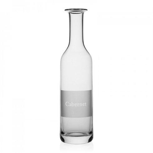 William Yeoward  Labelled Wine Carafe - Cabernet $170.00