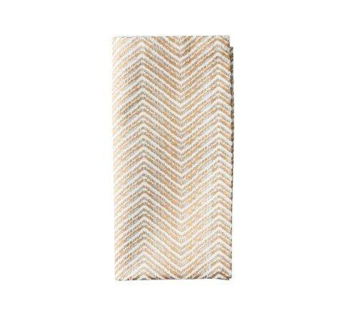 $18.00 Drift Whit, Gold and Silver Napkin