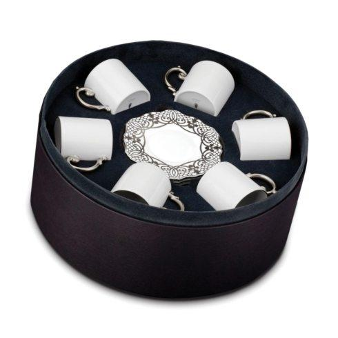 $674.00 Espresso Cup and Saucer, Set of 6