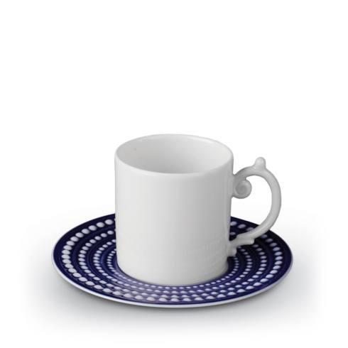 L'Objet  Perlée Blue Espresso Cup and Saucer $80.00