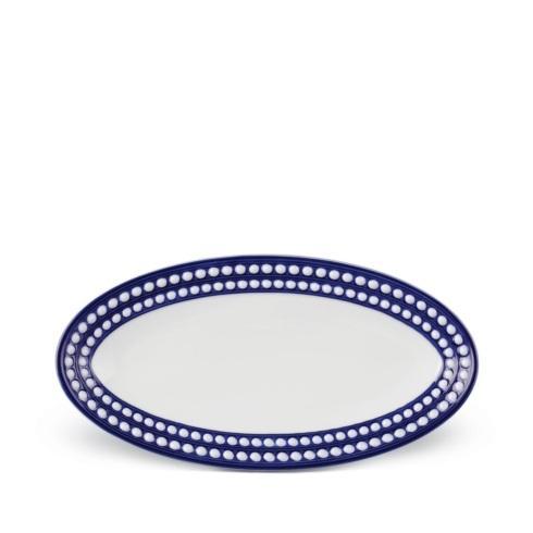 L'Objet  Perlée Blue Oval Platter, Small $200.00