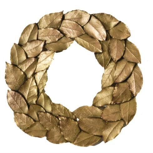 $68.00 Bay Leaf Wreath Gold Trivet