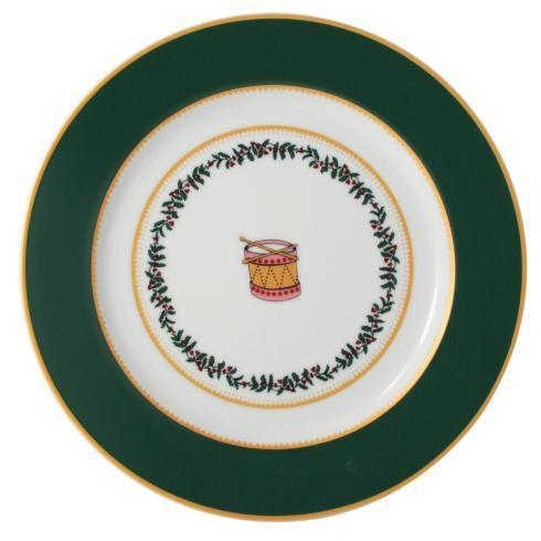 $69.00 Grenadiers Salad Plate-Green Drum