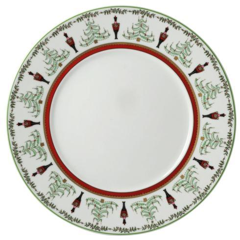 $184.00 Grenadiers Accent Service Plate-Red Stripe