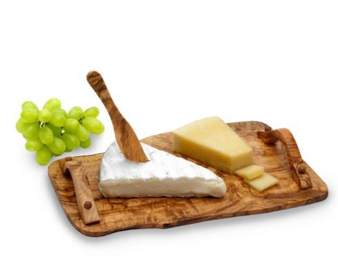 City Bazaar   Olive Wood Cheese Tray with Handles $99.95