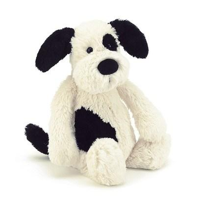 $14.95 Bashful Small Puppy-Black/Cream