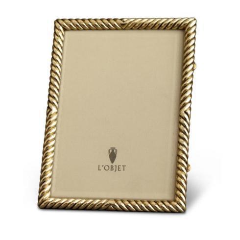 L'Objet  Picture Frames Deco Twist Gold Frame 8x10 $295.00