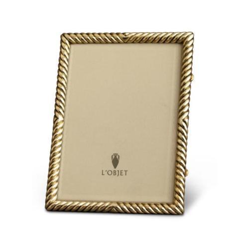 L'Objet  Picture Frames Deco Twist Gold Frame 5x7 $210.00