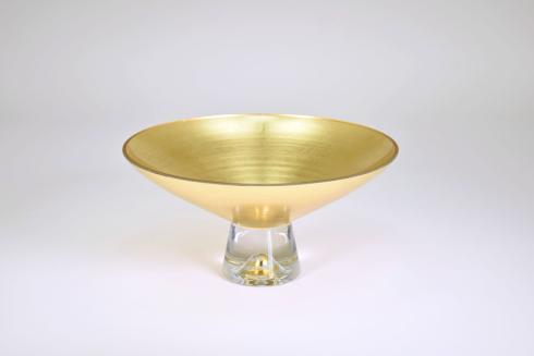 "$169.95 Pedestal Bowl 14"" Gold"