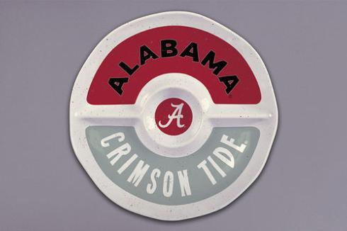 $32.95 Alabama Melamine Round Sectional Platter
