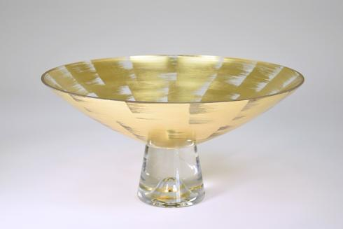 "$169.95 Pedestal Bowl 14"" Silver Slash"