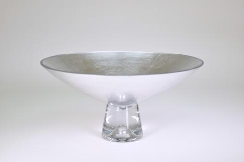"""$109.95 Pedestal Bowl 9"""" Silver"""