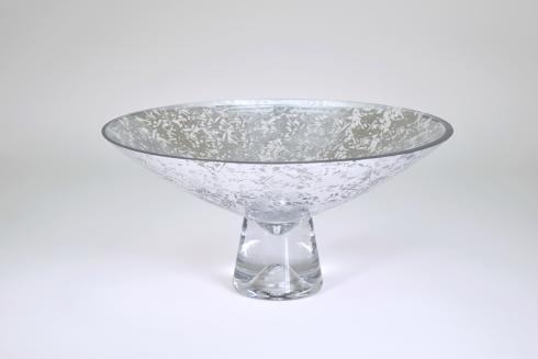 """$169.95 Pedestal Bowl 14"""" Silver Wabi"""