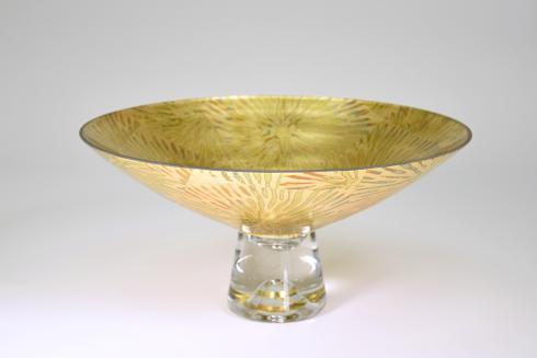 """$189.95 Pedestal Bowl 14"""" Starburst"""