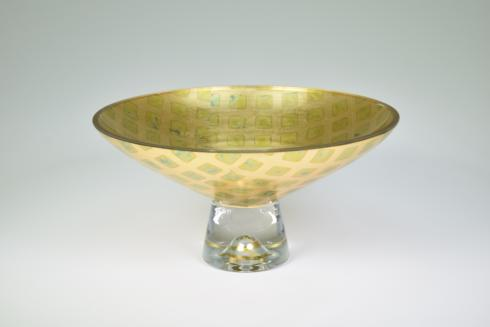 "$124.95 Pedestal Bowl 9"" Check"