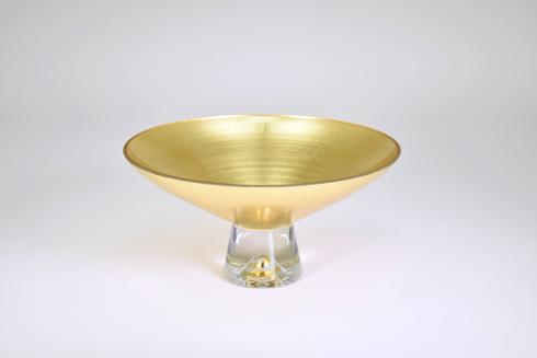 "$109.95 Pedestal Bowl 9"" Gold"