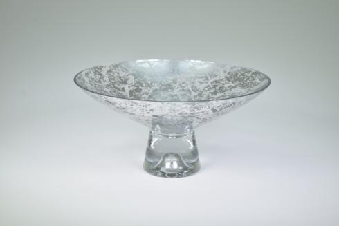 """$109.95 Pedestal Bowl 9"""" Silver Wabi"""