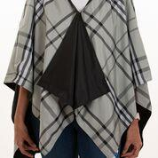 $65.00 Rainrap-Black & Gray Plaid
