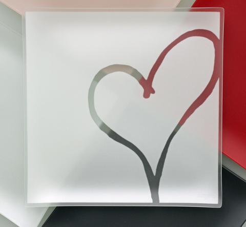 """Riverside Design   Heart Square Tray 9"""" $42.95"""